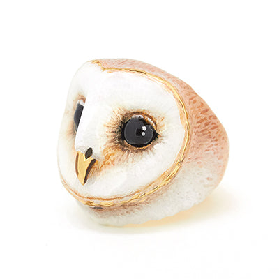 Lucky Barn Owl Ring | MOONLIGHT VALLEY