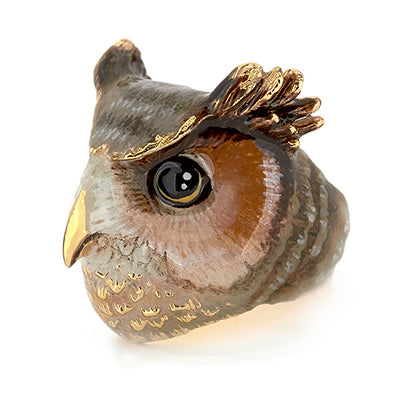 Merry Great Horn Owl Ring | MOONLIGHT VALLEY