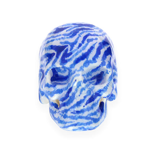 Blue&White Zebra Skull Ring | LIMITED