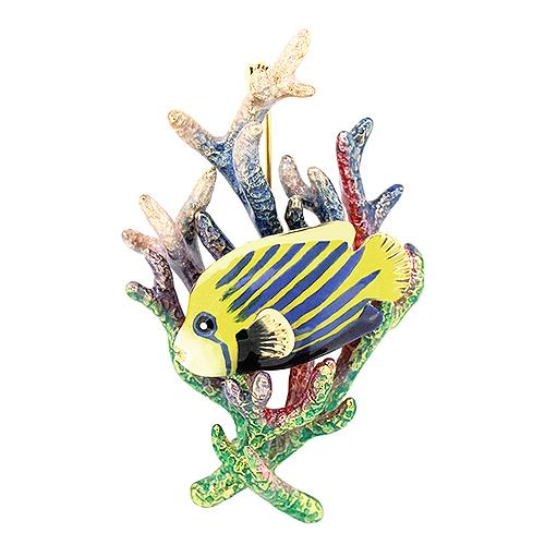 AngelFish and Reef Brooch | Ocean Instruments