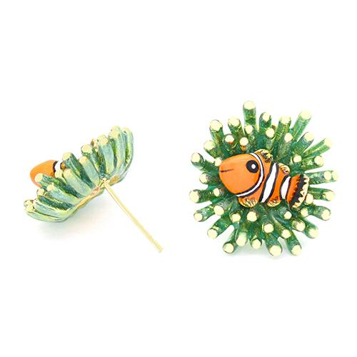 Clownfish and Sea Anemone Earrings | Ocean Instruments