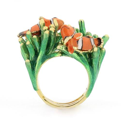 Clownfish and Sea Anemone Ring | Ocean Instruments