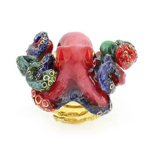 Red Octopus Ring | Ocean Instruments