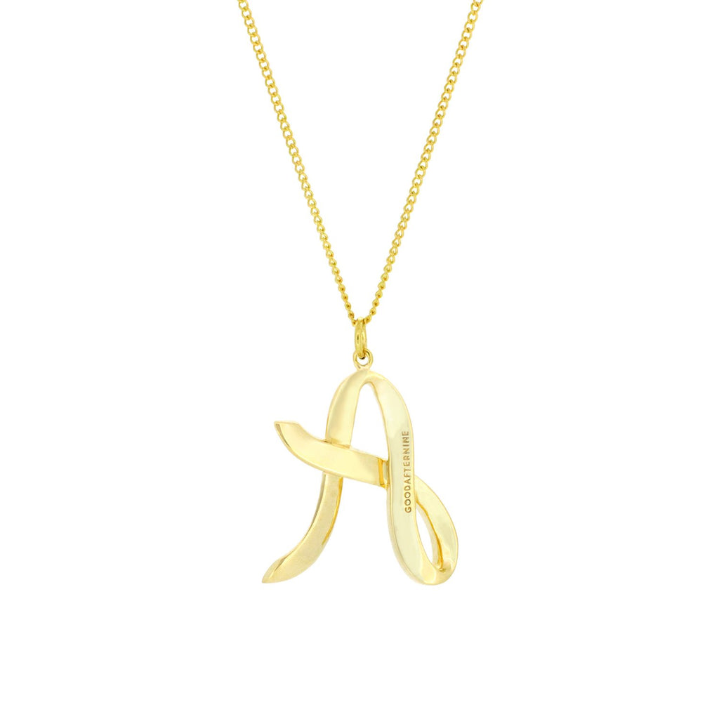 Alphabet A Necklace