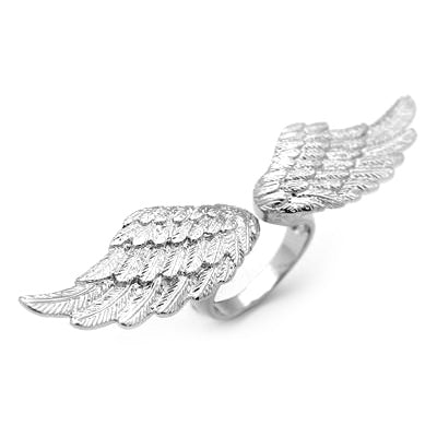 Angel Wing Ring Silver | ANGELS & DEMONS