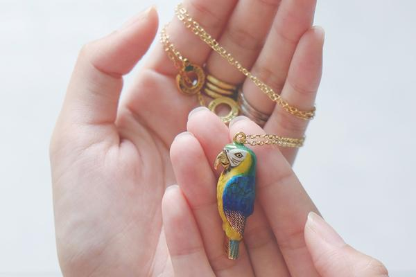 Arara Macaw Whistle Necklace | SKY DANCER