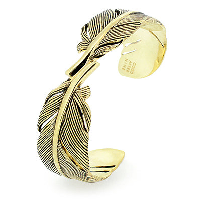 Feather Bangle Gold-Black | FEATHER