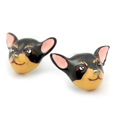 Brownie Chihuahua Earrings | DOGS