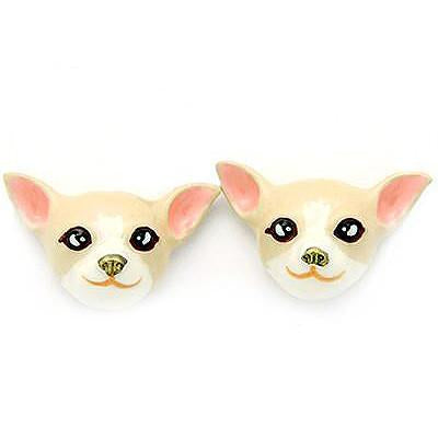 Creamy Chihuahua Earrings | DOGS