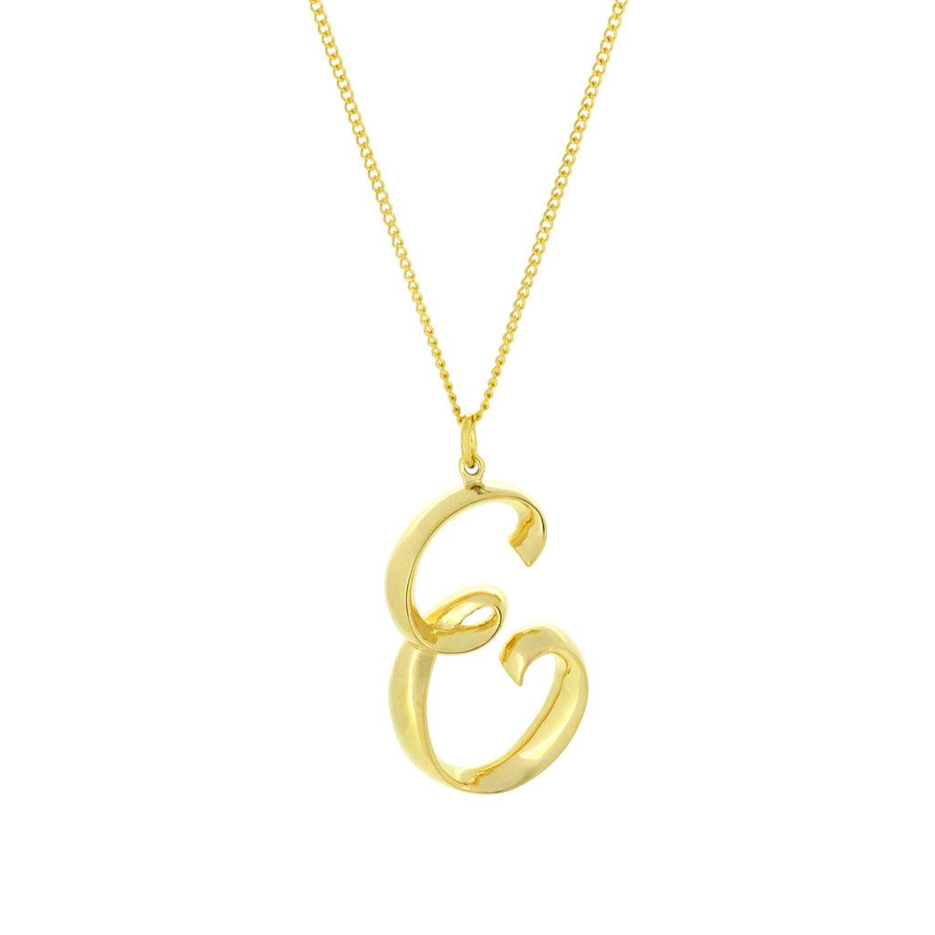 Alphabet E Necklace