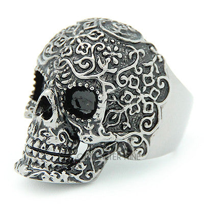 Filigree Skull Black Ring | FILIGREE SKULL
