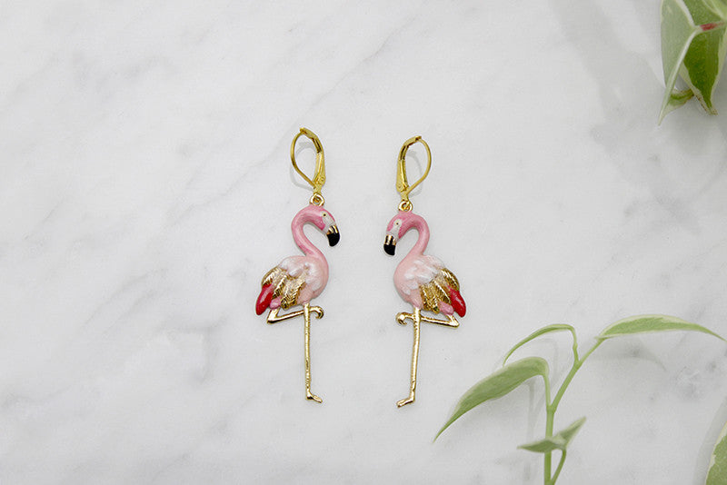 Flamingo Earrings | BALLERINE BIRD