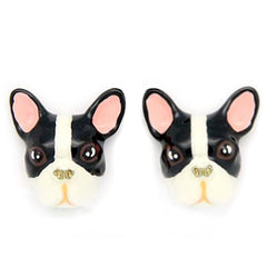 French Bulldog Earrings Black and white | DOGS