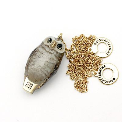 Happy Spotted Owl Whistle Necklace | MOONLIGHT VALLEY