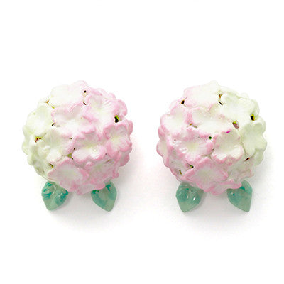 Hydrangea Pink Earrings | BLOOM