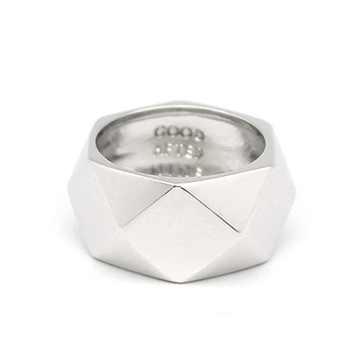 Ballad of Pyramid Thick Silver Ring | BALLAD OF PYRAMID
