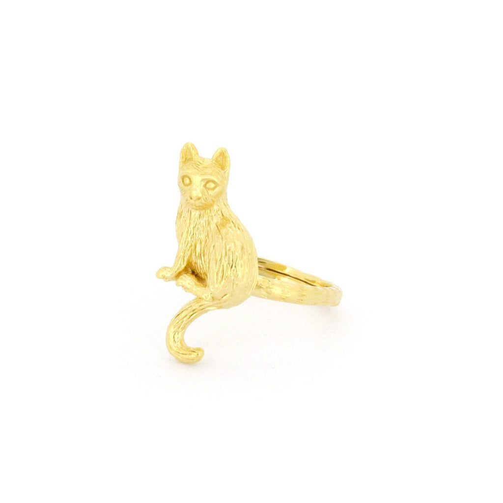 Murmur Sitting Cat Ring 925 Sterling Silver