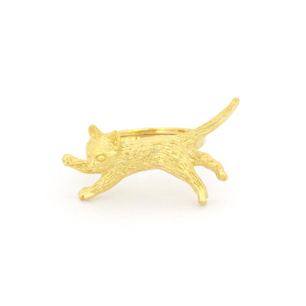 Murmur Jumping Cat Ring 925 Sterling Silver