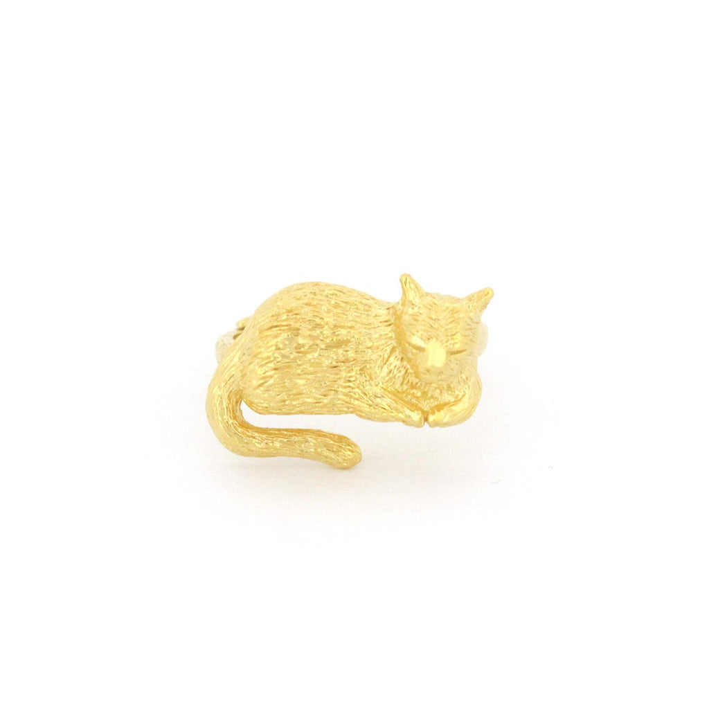 Murmur Dreaming Cat Ring 925 Sterling Silver