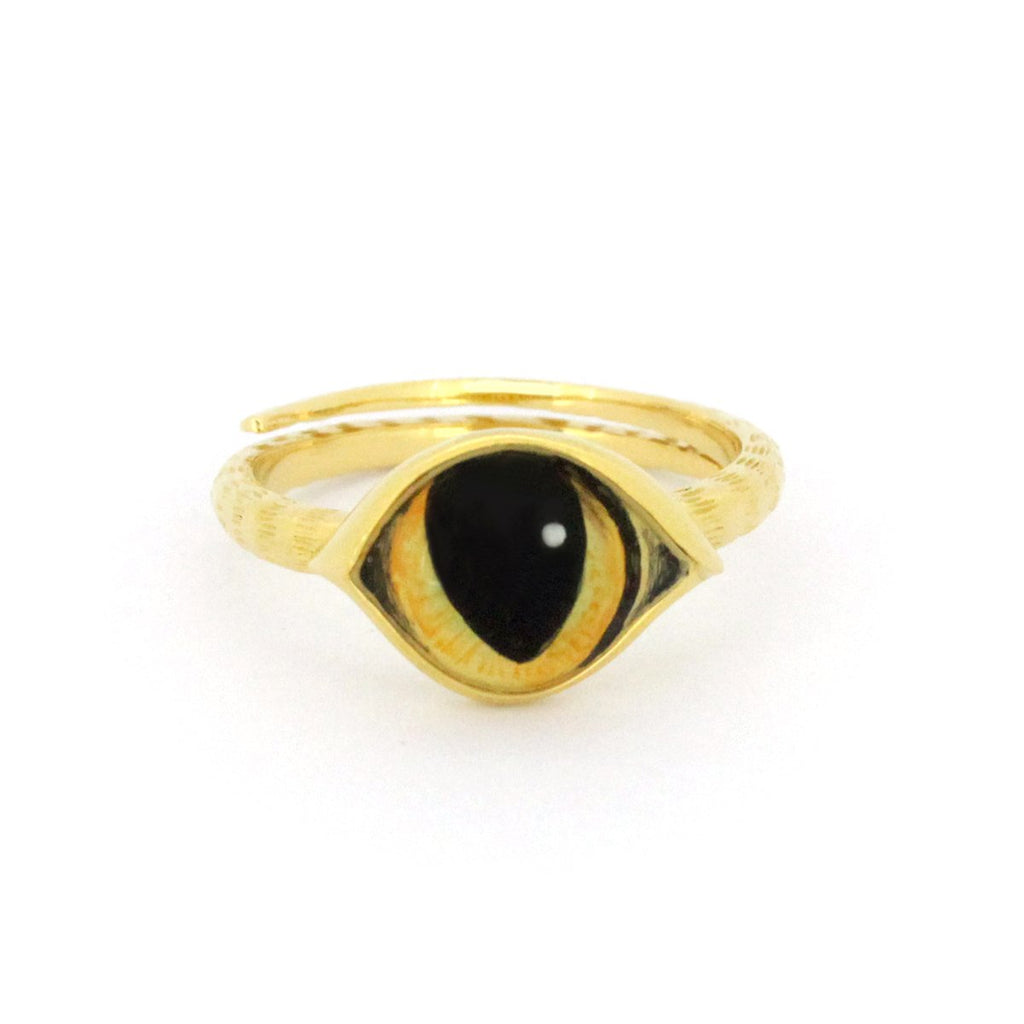 Murmur Cat Eye Stacking Ring 925 Sterling Silver