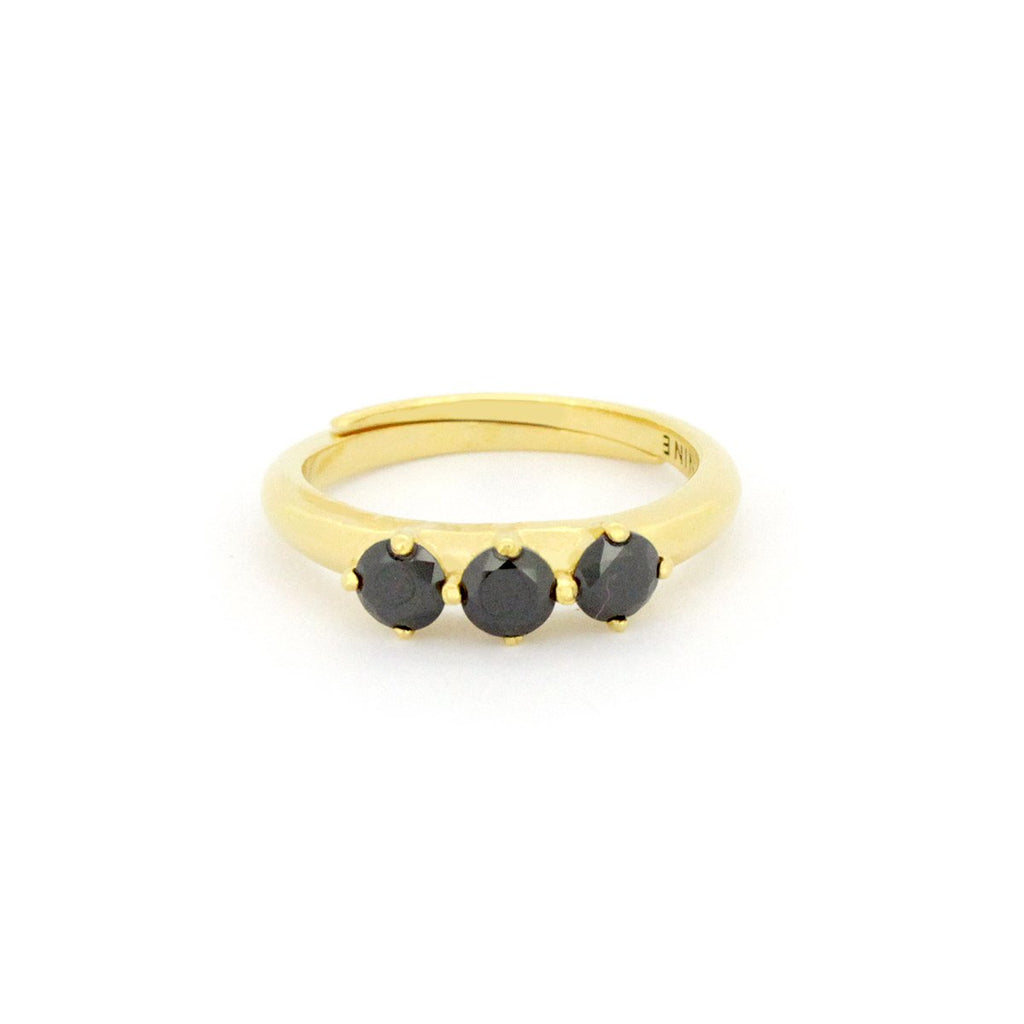 Murmur Black Star Ring 925 Sterling Silver