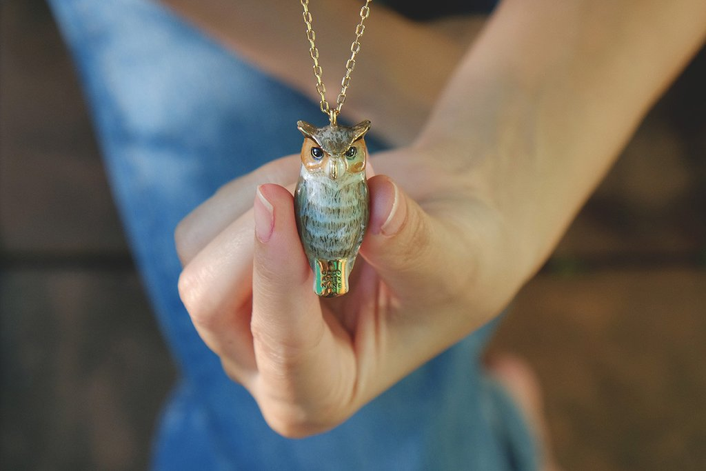 Merry Great Horn Owl Whistle Necklace | MOONLIGHT VALLEY
