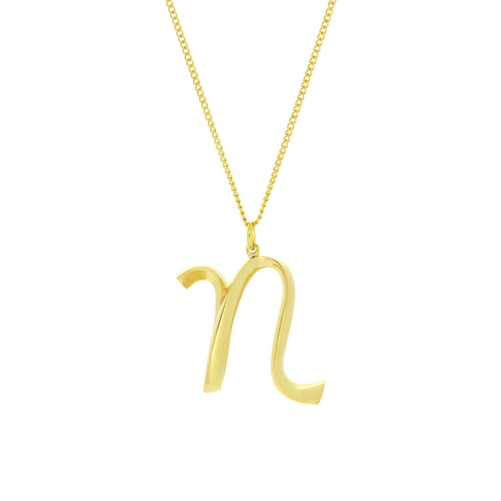 Alphabet N Necklace