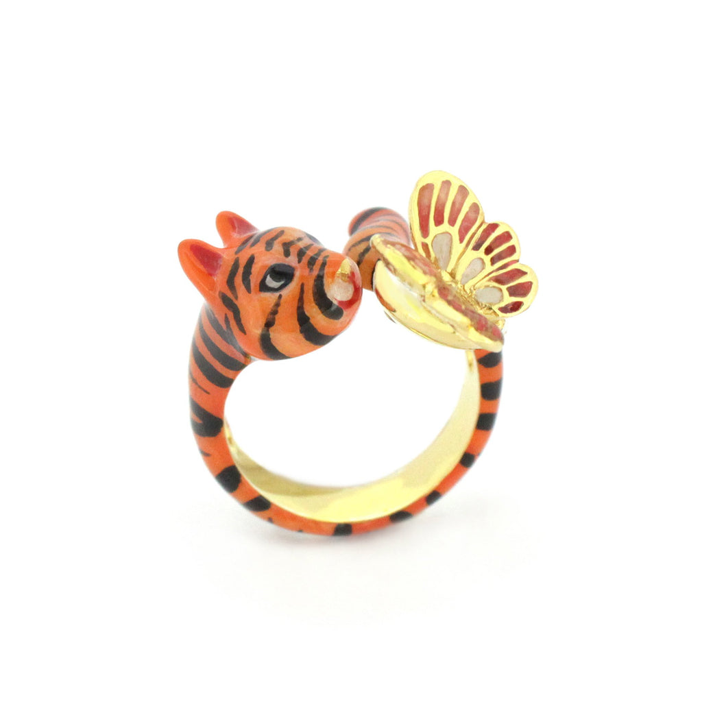 Orient Romance Tiger Butterfly Ring