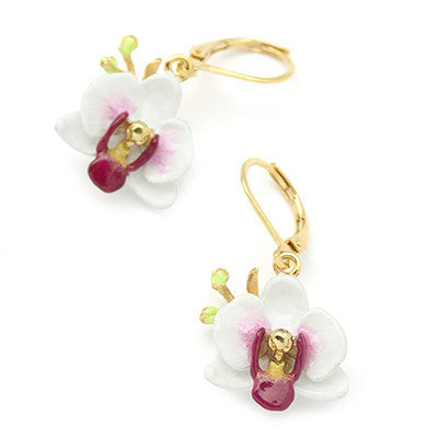 Phalaen White Earrings | BLOOM
