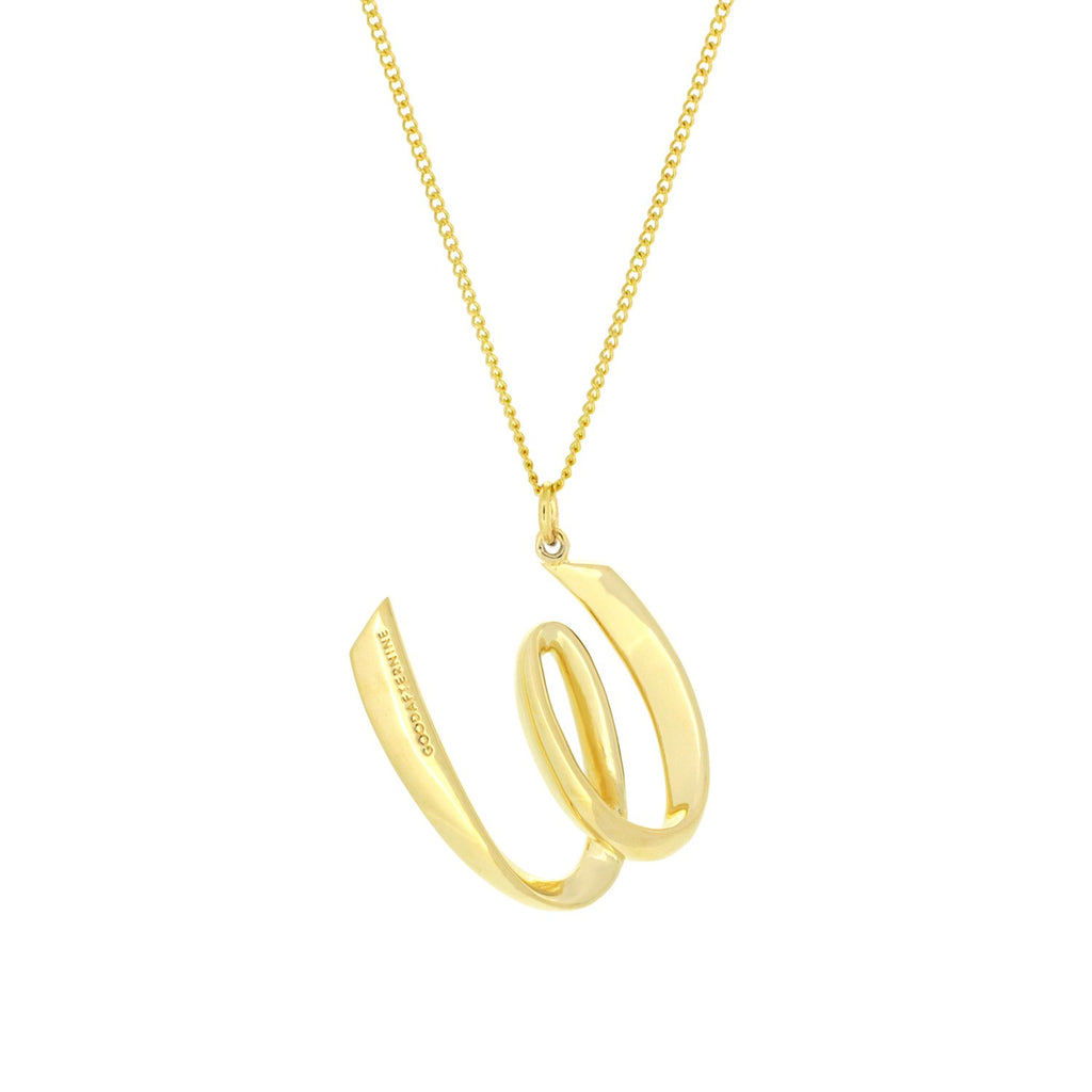 Alphabet W Necklace