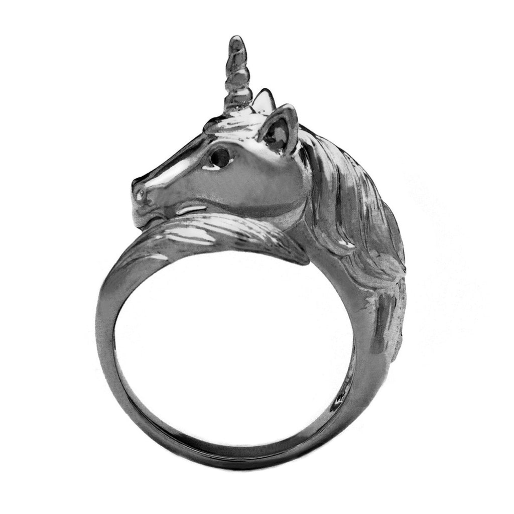 Unicorn Ring Black