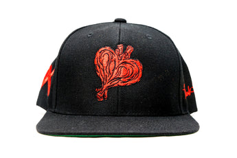 Heartout Snapback (Black/Red)