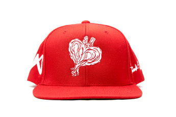Heartout Snapback (Red/White)