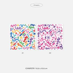 Bloom Stickers Confetti