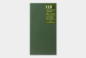Midori Traveler's Notebook Refill Planeador Semanal Regular 018