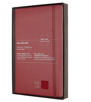 Moleskine Classic Leather Red