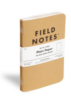 Field Notes Set de Libretas plain