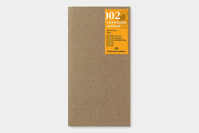 Midori Traveler's Notebook Refill Cuadros Regular 002