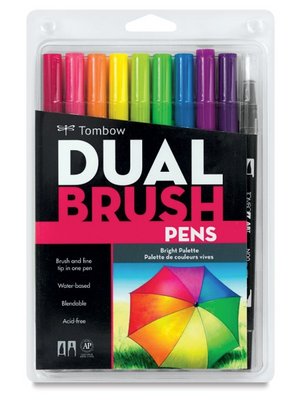 Tombow Dual Brush Pens Tonos Brillantes