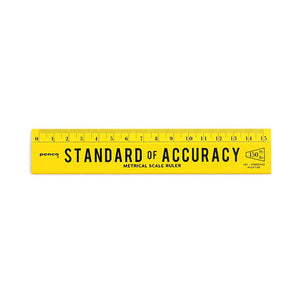 Hightide Wooden Metric Ruler Yellow