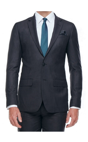 CLINTON SLIM FIT SUIT (CHARCOAL)