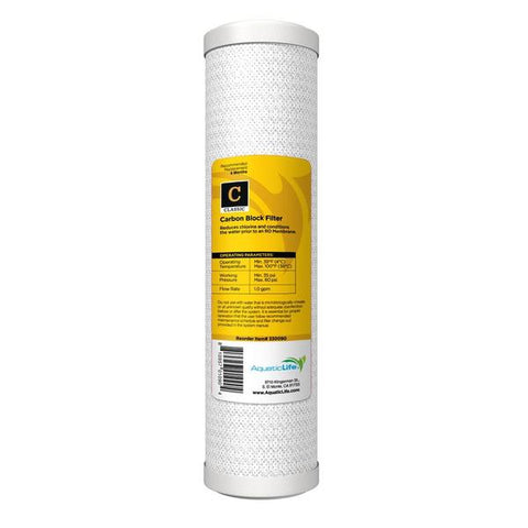 Aquaticlife Solid Carbon Pre-filter Cartridge (Rec Retail $19.95)