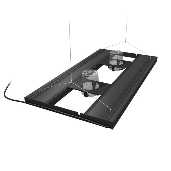 "AquaticLife T5 HO Hybrid 4-Lamp Mounting System Fixtures 36"" Black  (Rec Retail $488.00)"