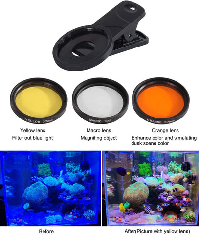 Aquarium Choice Coral Lens Filter Kits for Phone