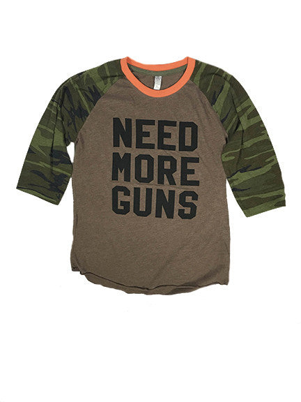NEED MORE GUNS Camo Raglan