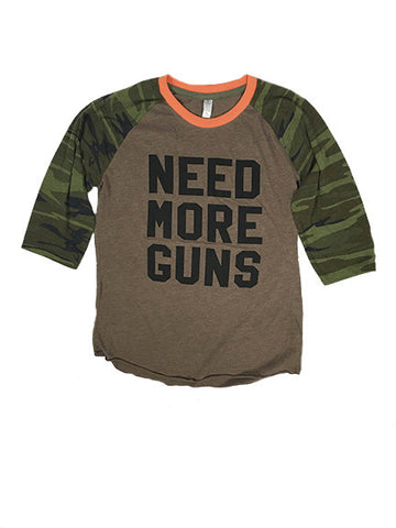 NEED MORE GUNS 3/4 Sleeve Raglan