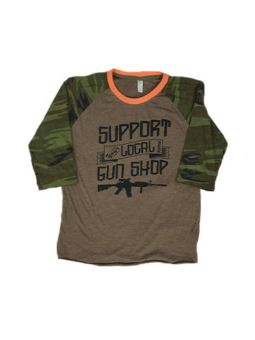 Support Your Local Gun Shop Camo Sleeves