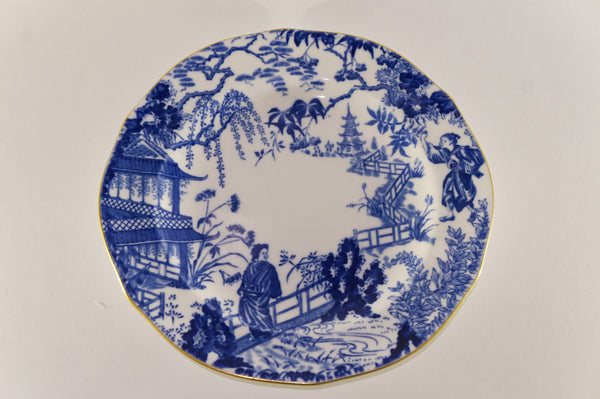 Royal crown derby chinoiserie gold rim plate