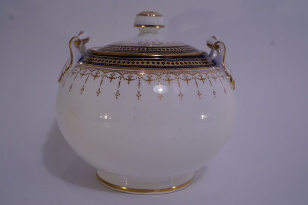 Spode Copelands China Navy and Gold Set Sugar Bowl