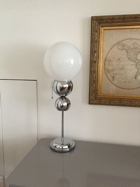 Chrome bubble Table lamp